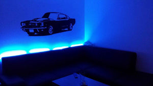 1965 Ford Mustang Muscle Car/Vinyl Wall - Pillbox Designs