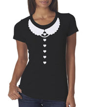 Load image into Gallery viewer, Kawaii Heart Design with Scallop Peter Pan Collar T-Shirt - Pillbox Designs