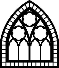 Load image into Gallery viewer, Church Window Vinyl Wal Decal - Pillbox Designs