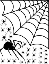 Load image into Gallery viewer, Arachnophobia Family of Spiders Spooky Decor Vinyl Wall Art Pack - Pillbox Designs