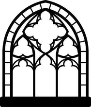 Load image into Gallery viewer, Gothic Church Window Vinyl Wall Decal - Pillbox Designs
