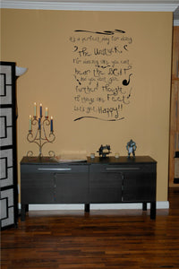 Doing The Unstuck - The Cure Song Lyrics Vinyl Wall Decal - Pillbox Designs