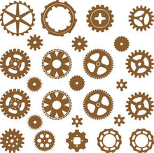 Load image into Gallery viewer, SteamPunk Gears & Cogs Die Cute Decals - Pillbox Designs