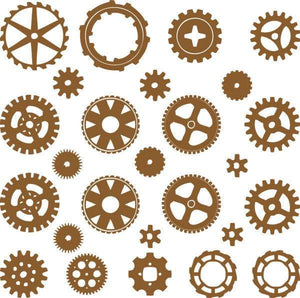 SteamPunk Gears & Cogs Die Cute Decals - Pillbox Designs