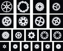 Load image into Gallery viewer, SteamPunk Gears & Cogs Stencil paint mask - Pillbox Designs