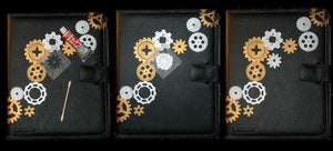 SteamPunk Gears & Cogs Stencil paint mask - Pillbox Designs