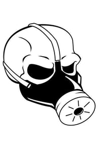 Steampunk Gas Mask Die Cut Decal - Pillbox Designs