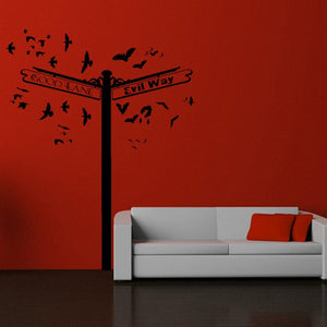 Crossroads of Good & Evil Vinyl Wall Decal - Pillbox Designs