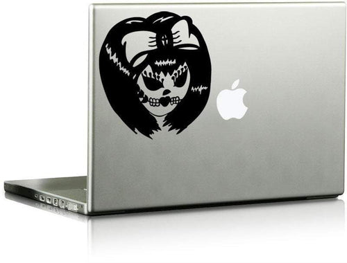 Laptop Sugar Skull Annie Die Cut Decal - Pillbox Designs