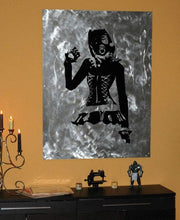 Load image into Gallery viewer, Neko Steampunk GasMask Girl in Corset Vinyl Wall - Pillbox Designs