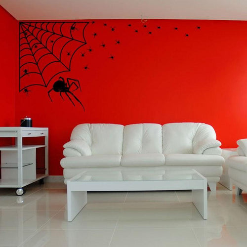 Arachnophobia Family of Spiders Spooky Decor Vinyl Wall Art Pack - Pillbox Designs