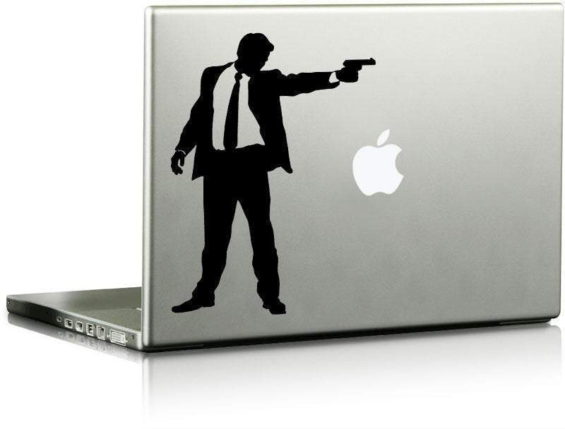 Gunman Vinyl Laptop Decal-CHOOSE ANY COLOR