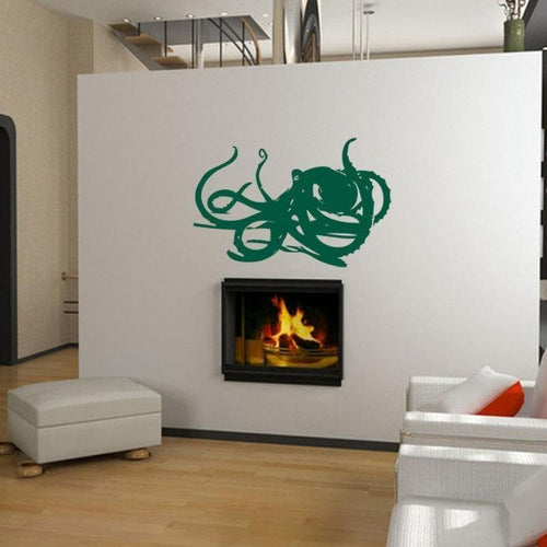 Deep Sea Octopus Vinyl Wall Decal - Pillbox Designs