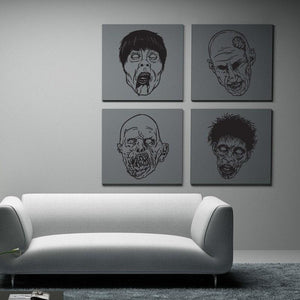 Zombie Fun Pack Vinyl Wall Decal - Pillbox Designs