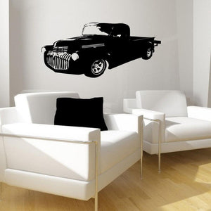 Vintage Pick-Up Truck Vinyl Wall Decal - Pillbox Designs