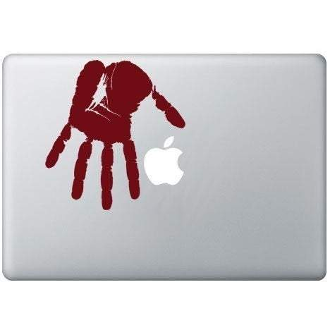 Bloody HandPrint Die Cute Decal - Pillbox Designs