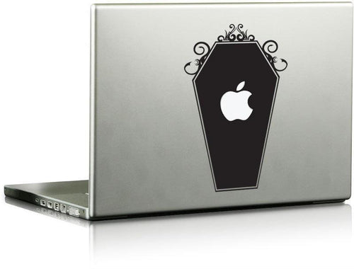 Tribal Coffin w/ Apple Cutout Die Cut Decal - Pillbox Designs