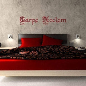 Carpe Noctem (Seize the Night) Vampire inspired/Vinyl Wall Decal - Pillbox Designs