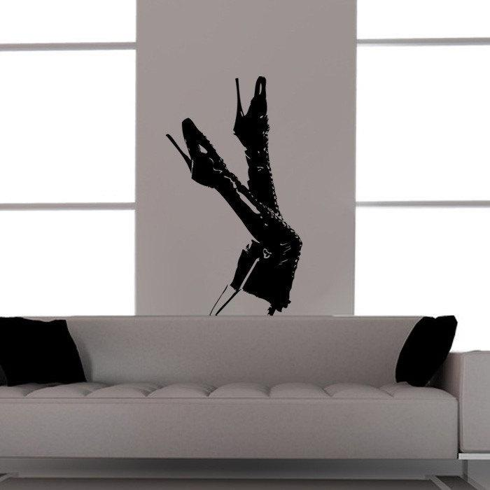 Ballet Slipper Boots 'n Legs Vinyl Wall Decal - Pillbox Designs