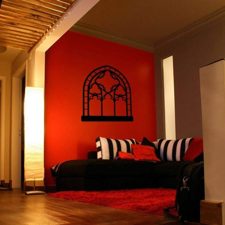 Gothic Church Window Vinyl Wall Decal - Pillbox Designs