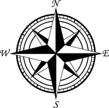 Load image into Gallery viewer, Large Compass Clock Vinyl Wall Art & Clock Kit - Pillbox Designs