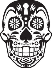 Load image into Gallery viewer, Day of the Dead Art Sugar Skull Decal - Pillbox Designs