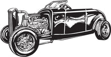 Load image into Gallery viewer, Hot Rod / Rat Rod Car Vinyl Wall Decal - Pillbox Designs