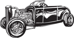 Hot Rod / Rat Rod Car Vinyl Wall Decal - Pillbox Designs