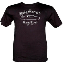 Load image into Gallery viewer, Ricky Muerte's Hearse Repair T-Shirt Customizable - Pillbox Designs