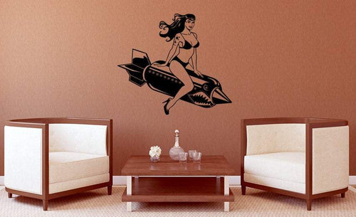 Bomber Betty Vinyl Wall Decal - Pillbox Designs