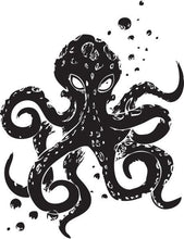 Load image into Gallery viewer, Angry Octopus Vinyl Wall Decal - Pillbox Designs