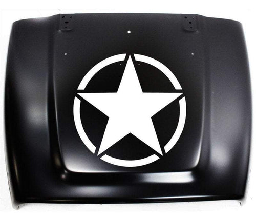 Military Star Oscar Mike Hood Decal - Pillbox Designs