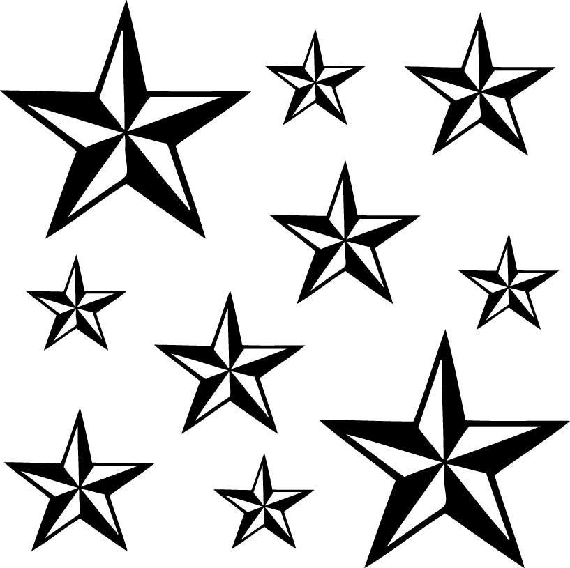 Nautical Star Pack Vinyl Decal Pack - Pillbox Designs