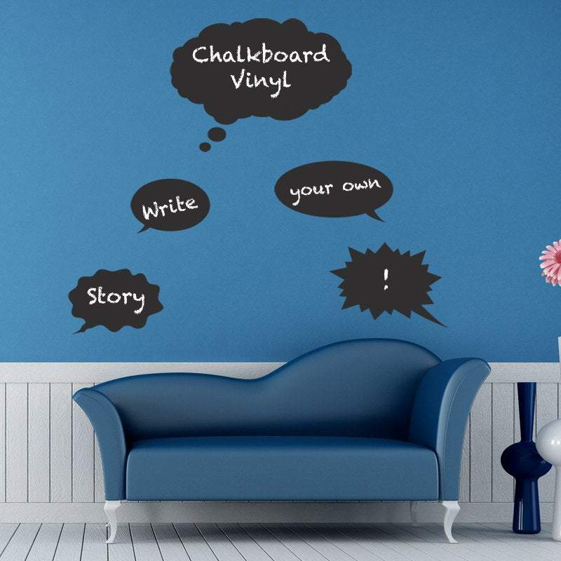 Thought Bubble Chalkboard Vinyl Wall Decals.