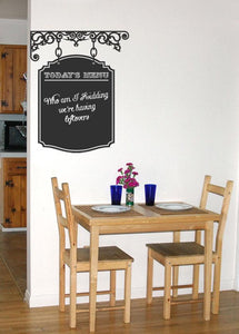Vintage Style Menu Chalkboard Vinyl Wall Decal - Pillbox Designs