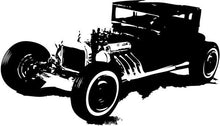 Load image into Gallery viewer, Model-T Rat Rod Hot Rod Vinyl Wall Decal - Pillbox Designs