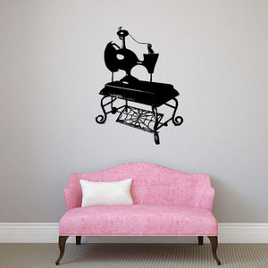 Sally's Vintage Sewing Machine Vinyl Wall Decal - Pillbox Designs