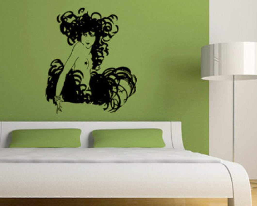 Burlesque Pixie Wall Decal - Pillbox Designs