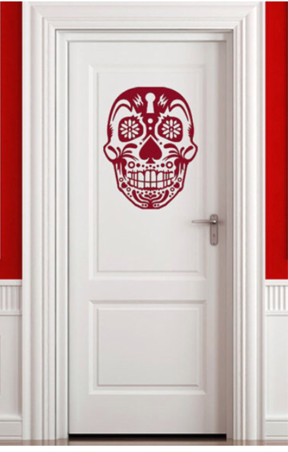 Day of the Dead Art Sugar Skull Decal - Pillbox Designs