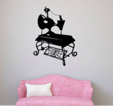 Load image into Gallery viewer, Sally's Vintage Sewing Machine Vinyl Wall Decal - Pillbox Designs