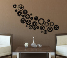 SteamPunk Gears & Cogs Vinyl Wall Decal Pack - Your Choice of colors