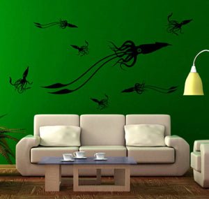 Giant Squid Pack Vinyl Wall Decal - Pillbox Designs