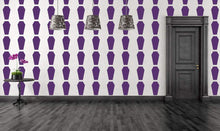 Load image into Gallery viewer, Coffin Stripes Gothic Wallpaper Vinyl Decals - Pillbox Designs