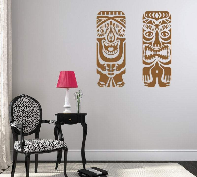 Tiki Fun Pack One-Vinyl Wall Decal - Pillbox Designs