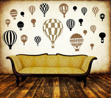 Load image into Gallery viewer, Hot Air Balloon MURAL DECAL PACK-Choose any 3 colors! - Pillbox Designs