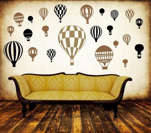 Hot Air Balloon MURAL DECAL PACK-Choose any 3 colors! - Pillbox Designs