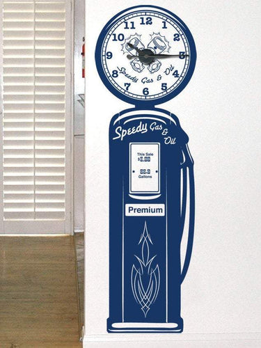 Gas Pump Clock Kit & Vinyl Wall Art - Custom Wording Available - Pillbox Designs