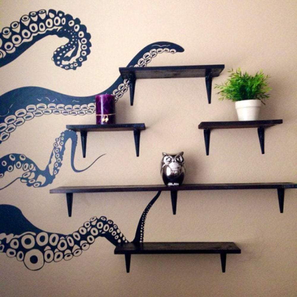 Large Kraken Octopus Tentacles Vinyl Wall Decal - Pillbox Designs