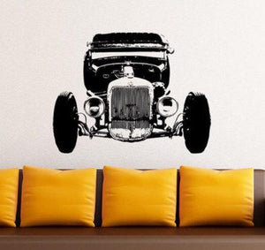 Ford T-Bucket RatRod Vinyl Wall Decal - Pillbox Designs