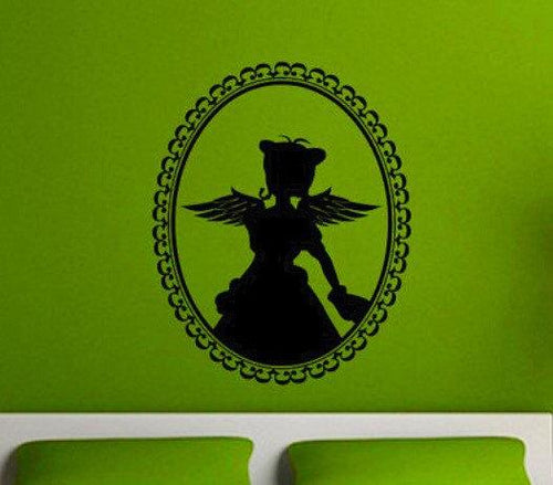Fairy in a Cameo Vinyl Wall Decal - Pillbox Designs